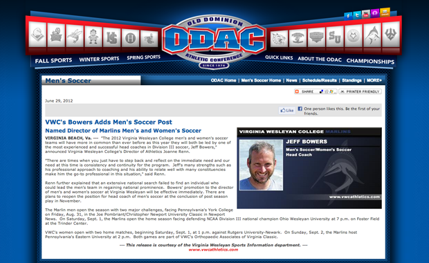 ODAC Highlights Bowers New Role